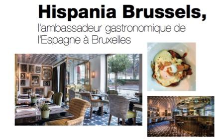 Hispania Brussels, l'ambassadeur gastronomique de l'Espagne à Bruxelles